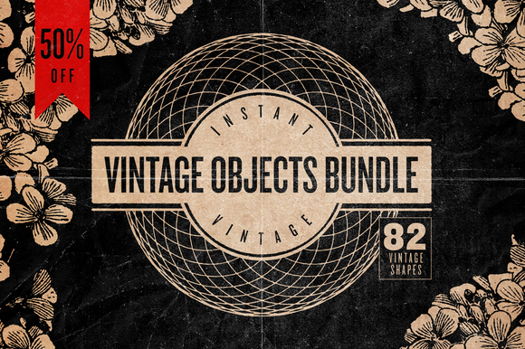 VINTAGE OBJECTS BUNDLE 50% OFF