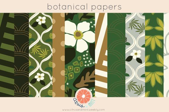 Botanical Digital Papers