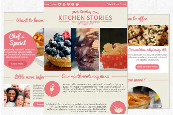 Muffin-Elegant Email Newsletter PSD