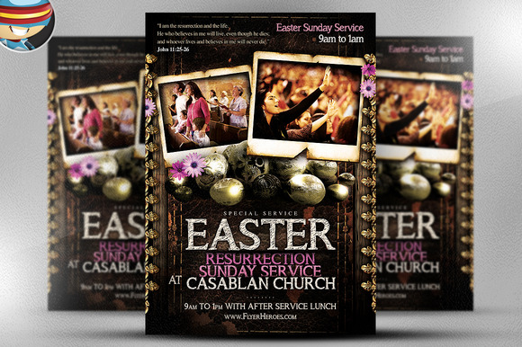Easter Sunday Flyer Template