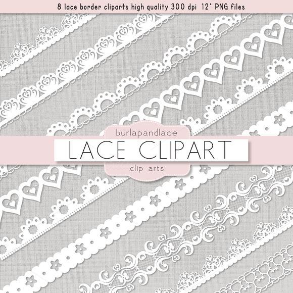 Clipart White Lace Borders