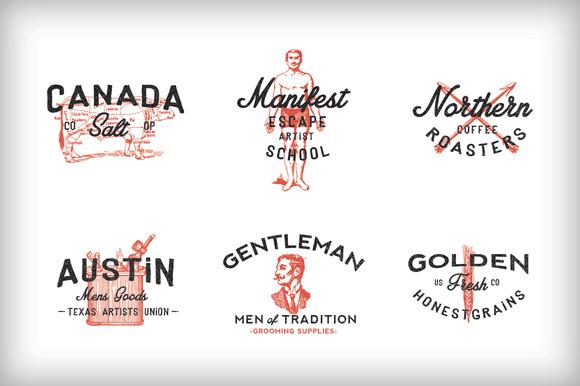 Рисованные логотипы