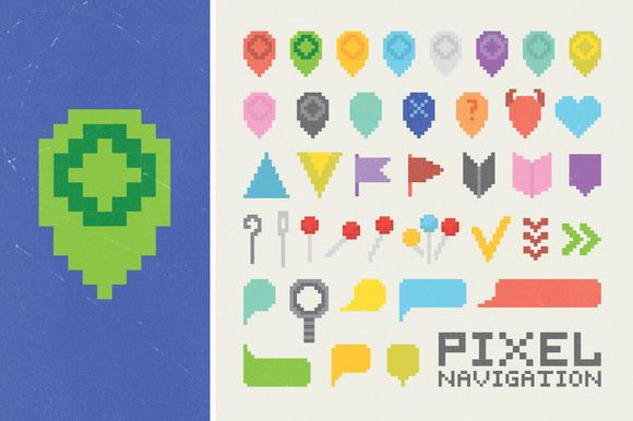 Pixel Navigation Icons Set