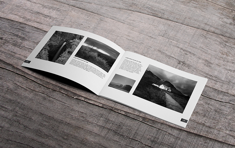 minimal photography portfolio book brochure templates on creative market. Black Bedroom Furniture Sets. Home Design Ideas