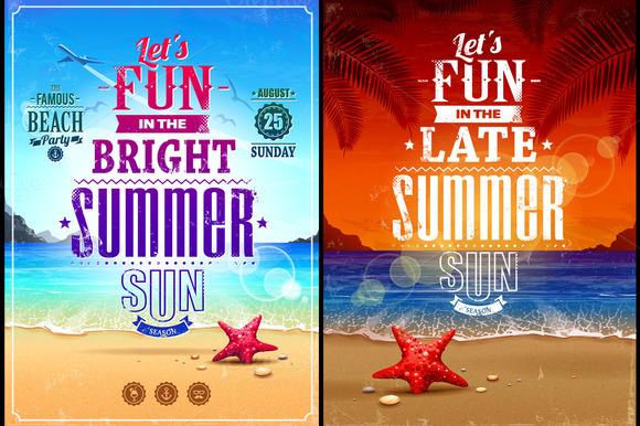 Summer Retro Poster