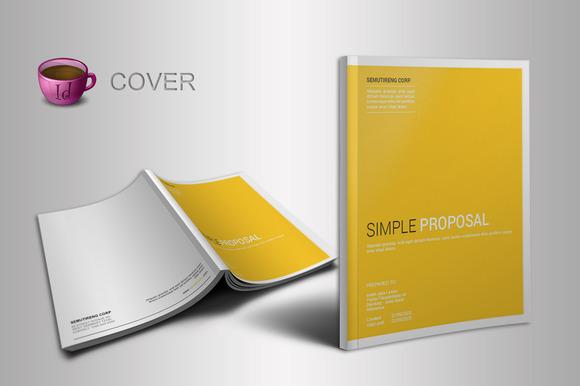 indesign proposal template brochure templates on creative market. Black Bedroom Furniture Sets. Home Design Ideas