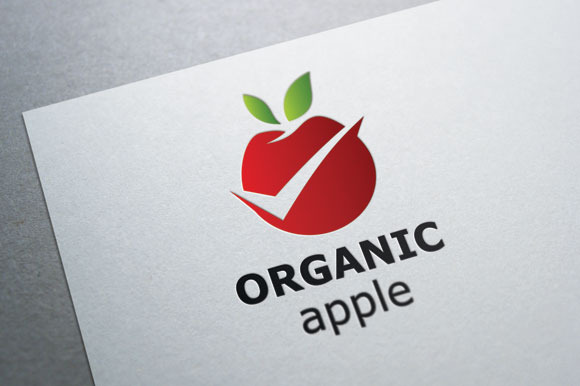 Organic Logo Design Organic Apple Logo