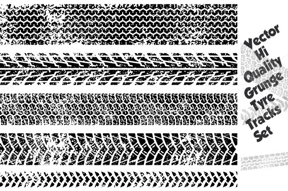 grunge tire track texture set illustrations on creative