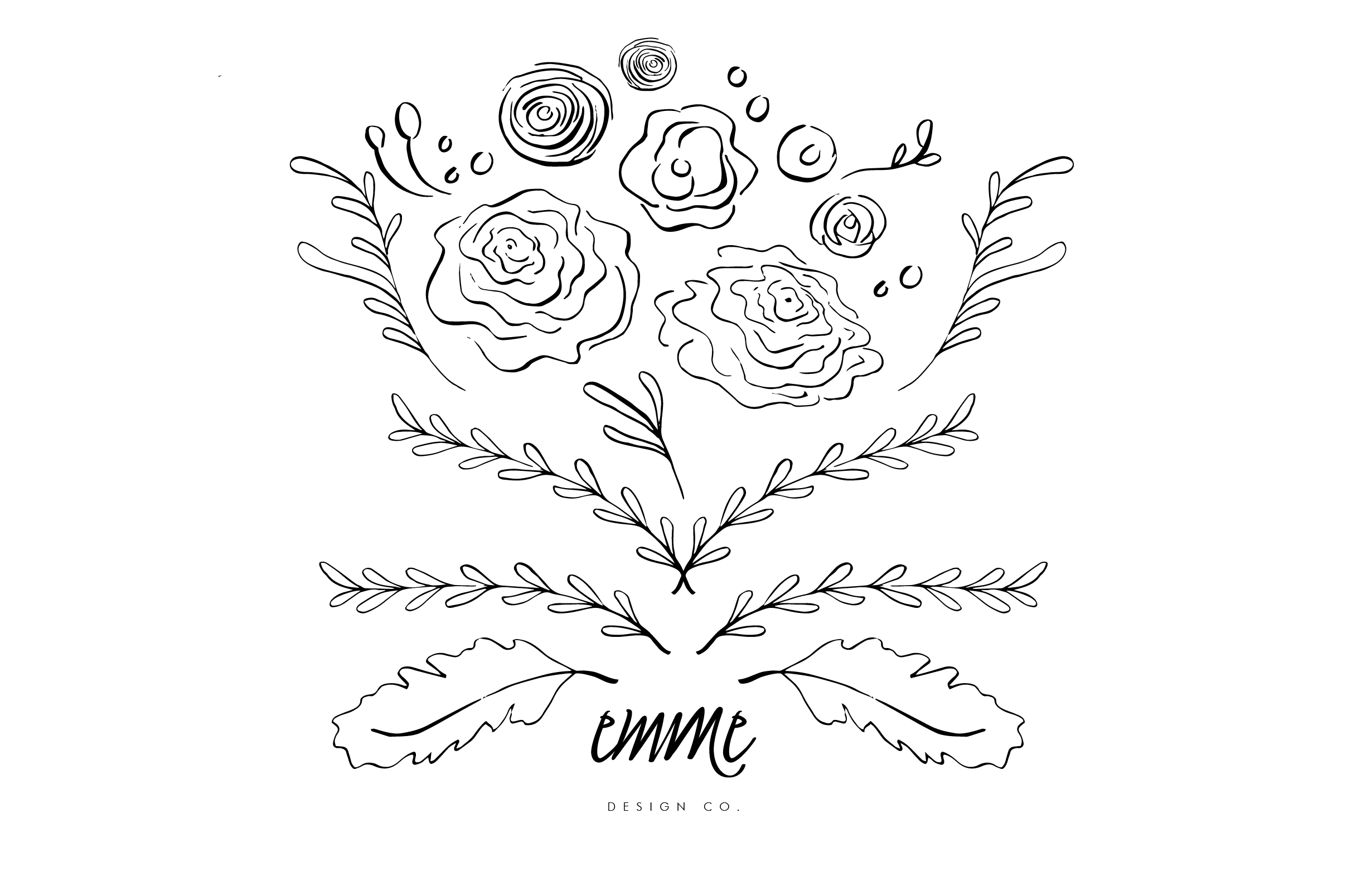 handdrawn bouquet of blooms graphics on creative market