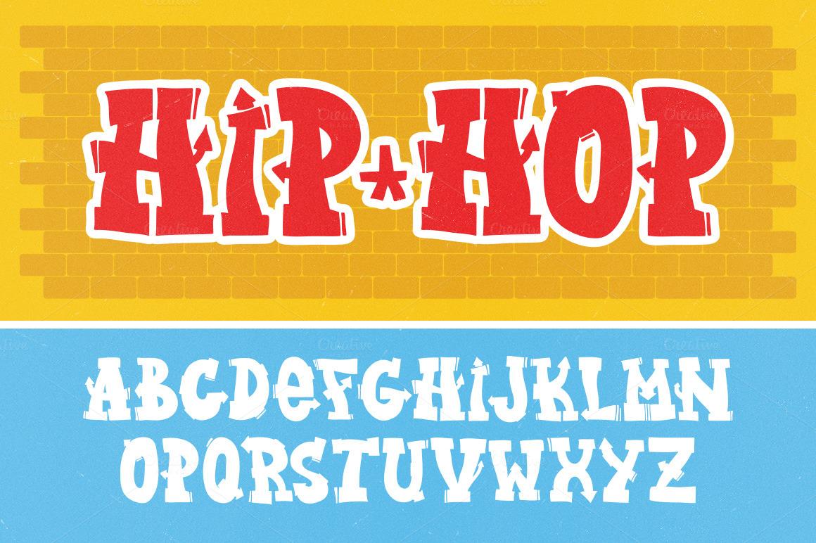 graffiti letters vector set