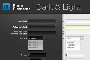 Light & Dark Form Elements