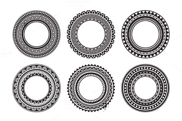 6 2 Polynesian Circle Frames