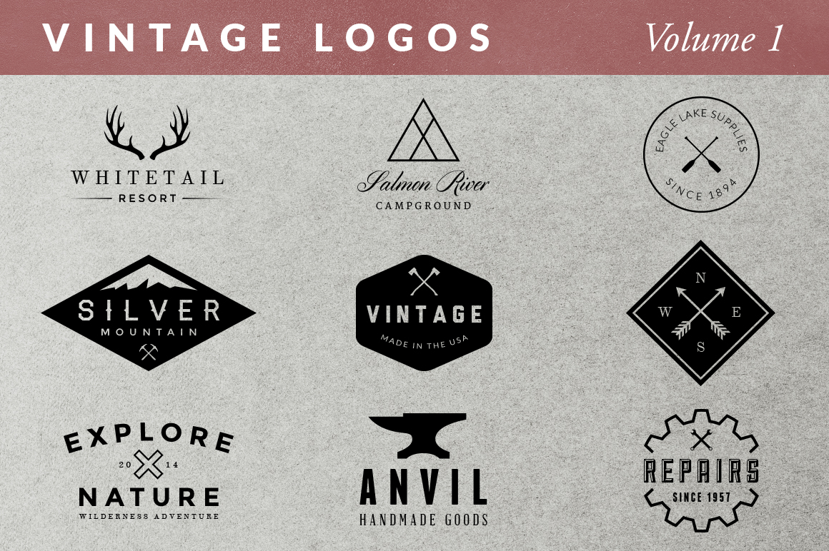 Vintage Logos - Volume 1 ~ Logo Templates on Creative Market