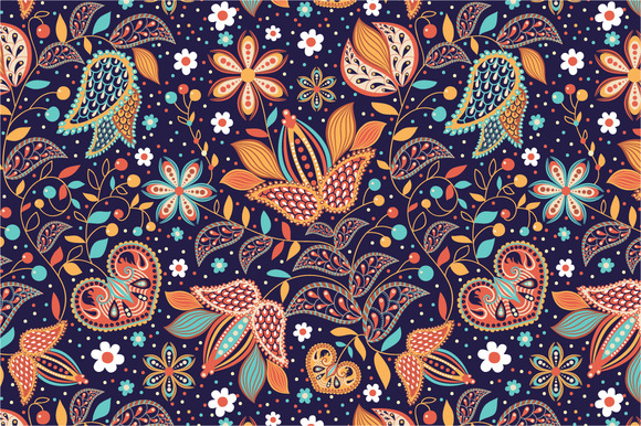 seamless pattern indian summer patterns on creative market. Black Bedroom Furniture Sets. Home Design Ideas