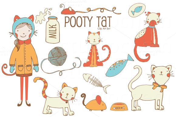 Pooty Tat PNG Clip Art Set