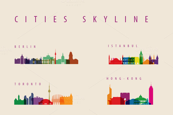 City Skyline Logo City Skyline Landmarks