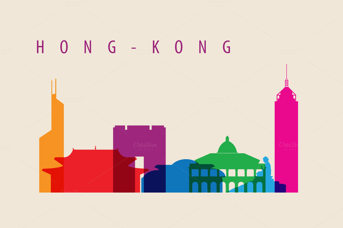 City Skyline Landmarks Illustration Illustrations On