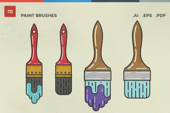 Paint Brush Illustrations