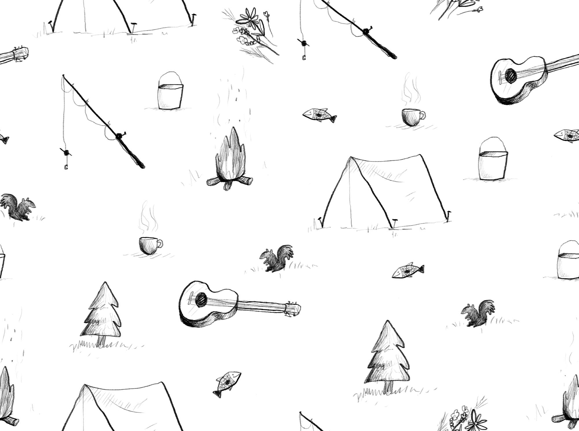 Camp pattern ~ Patterns on Creative Market