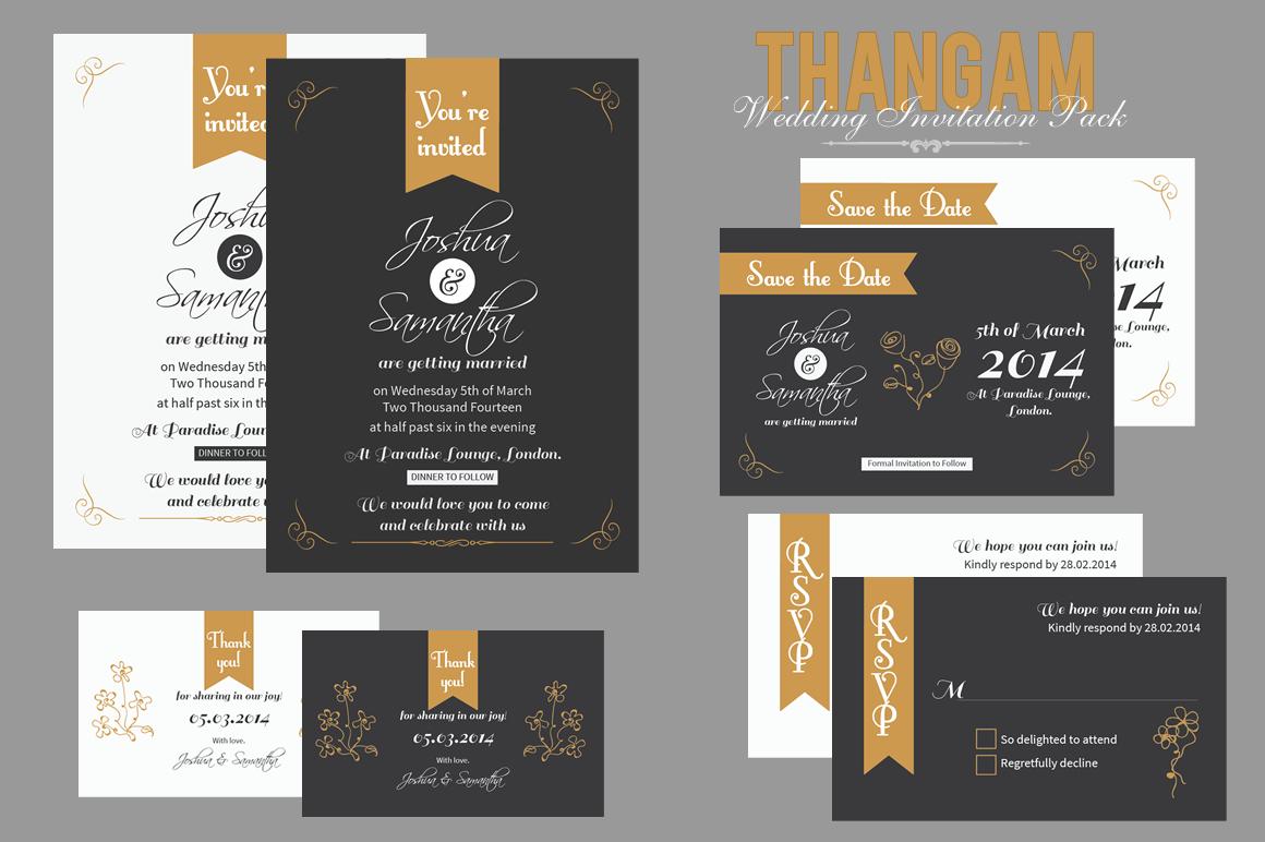 Thangam wedding invitation pack invitation templates on for Wedding invitations packs of 100
