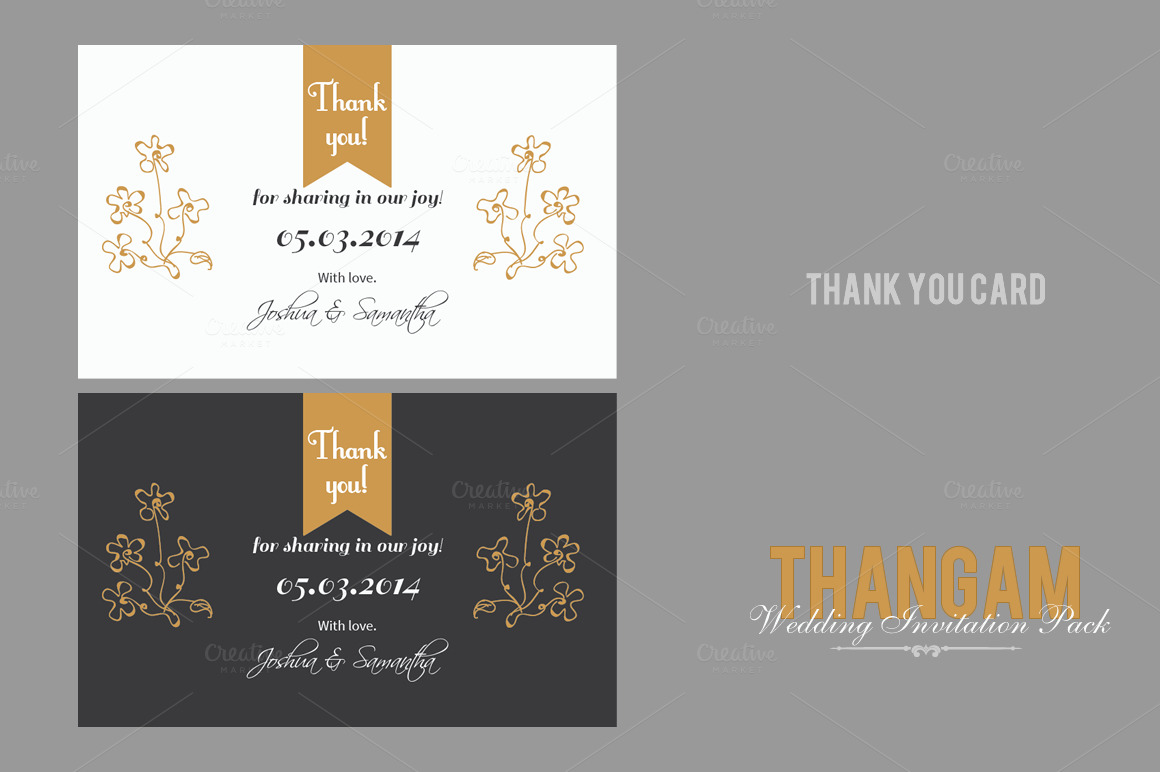 thangam wedding invitation pack