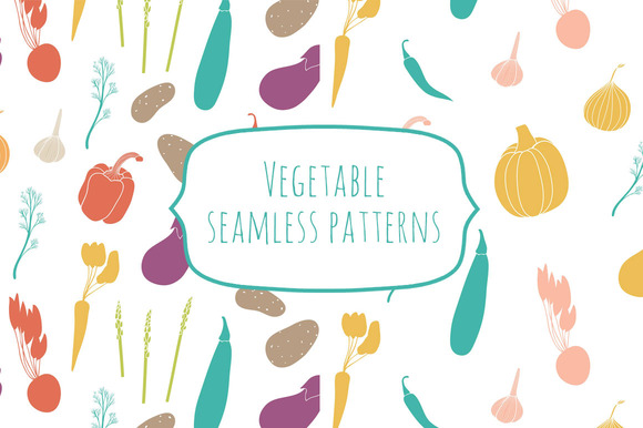 Vegetable Seamless Patterns