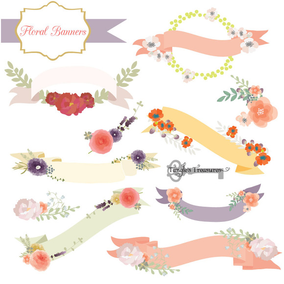 clipart floral banner - photo #19