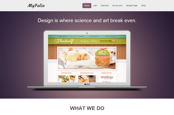 MyFolio Creative WP Template