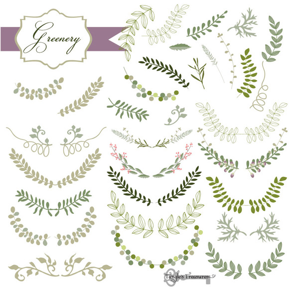 32 Laurel And Greenery Vectors Illustrations On Creative
