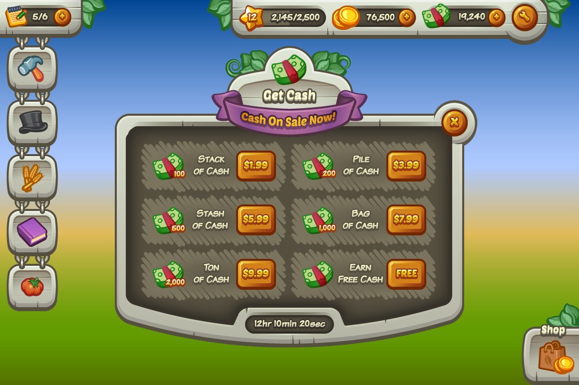 complete mobile game ui kit