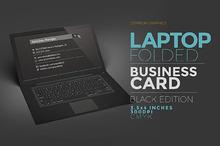 Laptop Business Card Black Edition