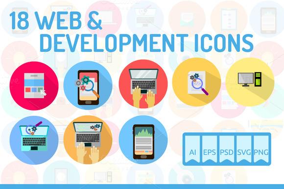 18 WEB Development Icons