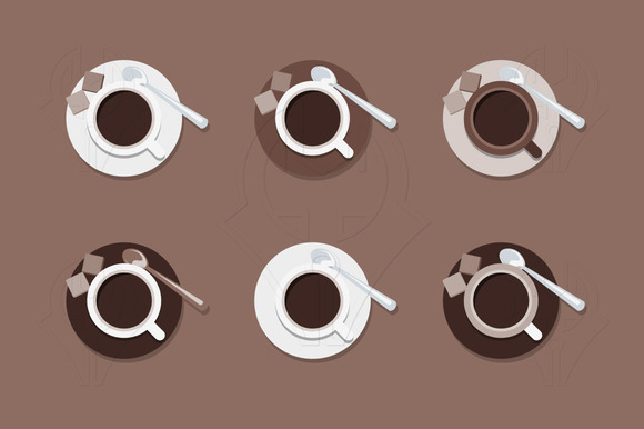 Cups of Coffee. Vector. - Illustrations