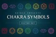Chakra Symbols Vector Set-Graphicriver中文最全的素材分享平台