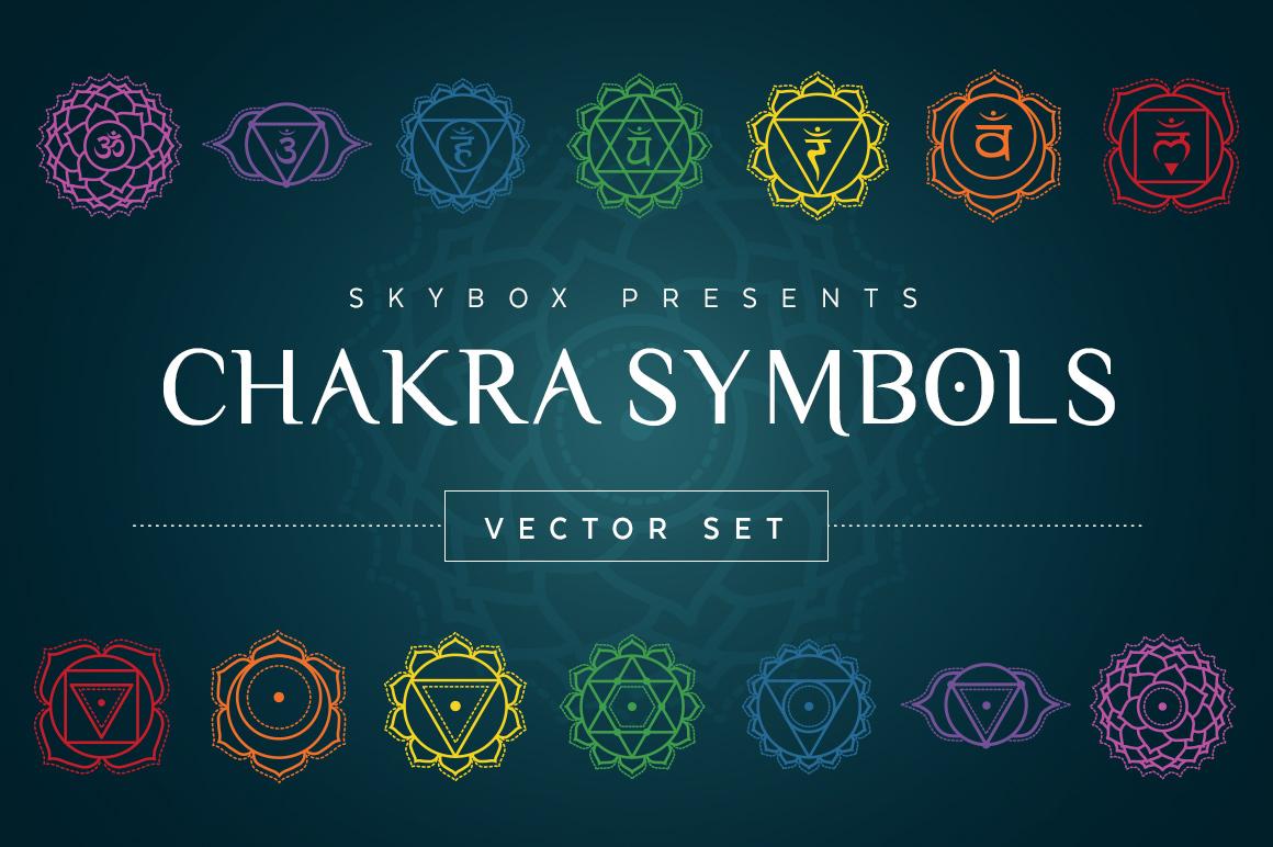 Chakra Symbols Vector Set- $9