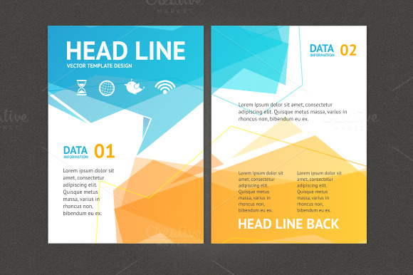 Geometric bubble speech brochure graphics on creative market for Professional brochure templates free