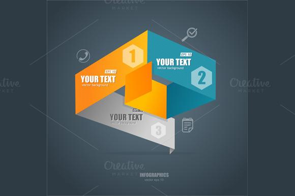Modern Paper Infographics. Vector - Illustrations