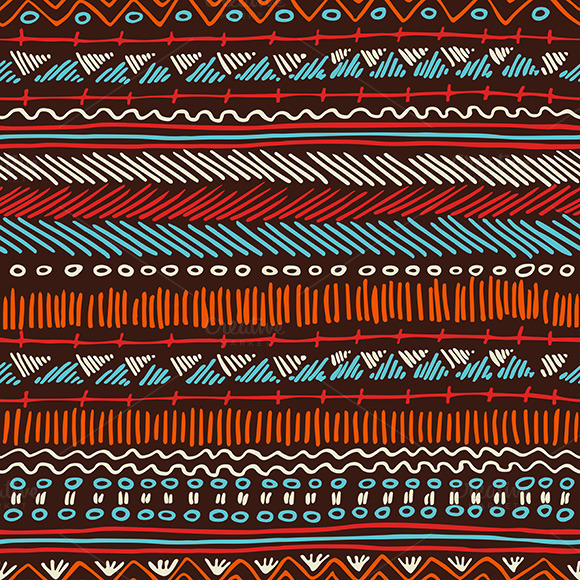 Boho Seamless Pattern Tribal Stripes