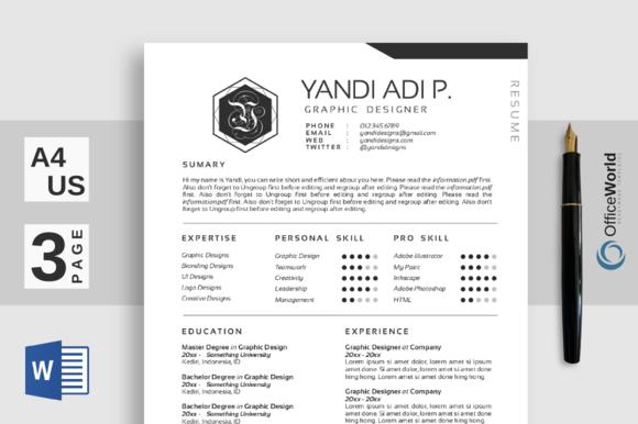 Digital Clean Resume / CV ~ Resume Templates on Creative ...