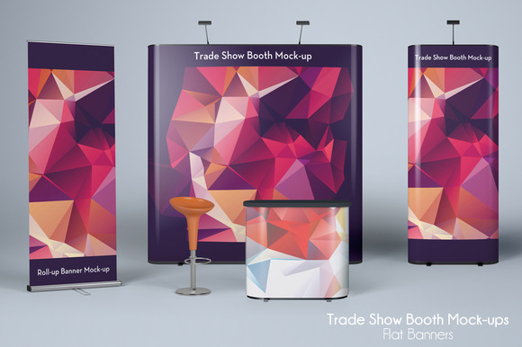 TRADE SHOW MOCK-UP Flat Banners