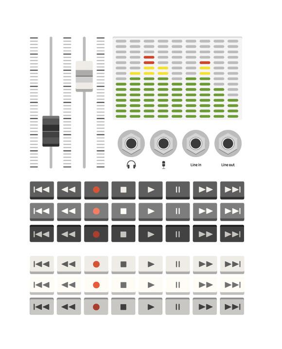 Musical Ui Set Buttons
