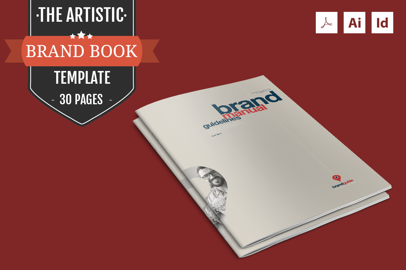 the artistic brand book template brochure templates on creative market. Black Bedroom Furniture Sets. Home Design Ideas