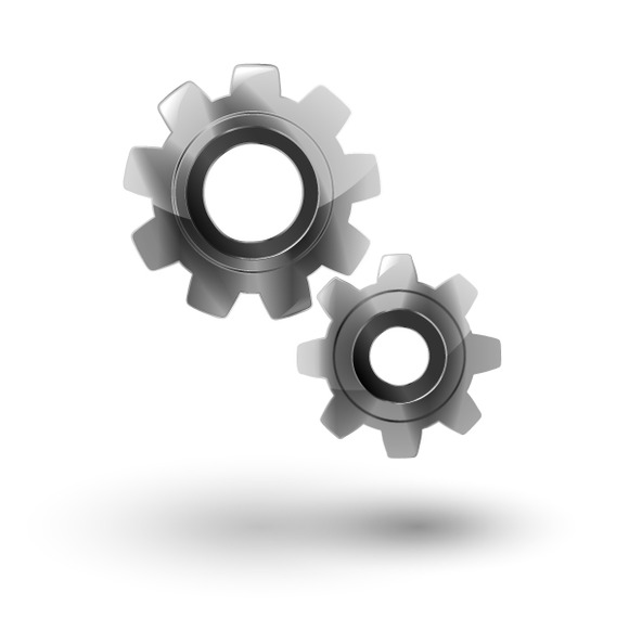 Two Gears Icon Settings Isolated