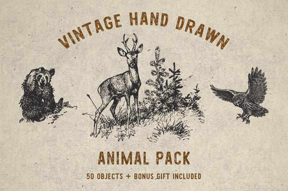 Vintage Animal Pack Bonus Font