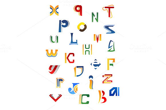 Set Of Decorative Letters