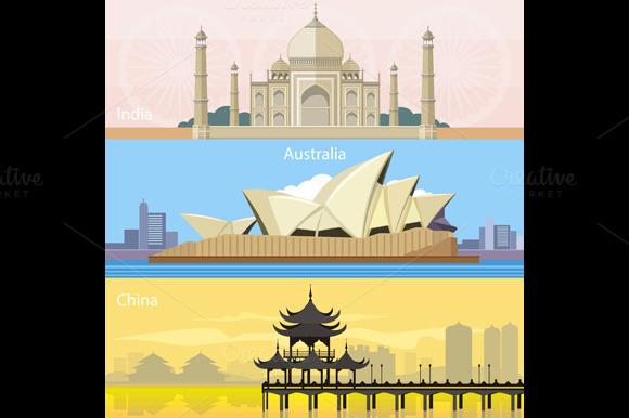 Australian China And India