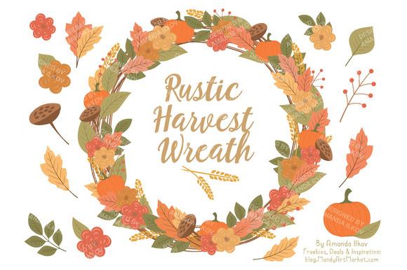 Fall Harvest Wreath Vectors