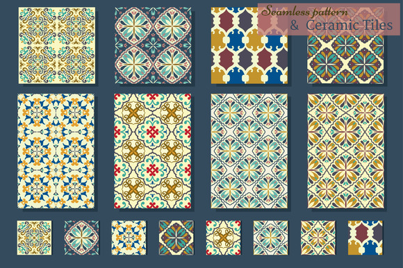Collection of Azulejo Tile. Patterns - Patterns