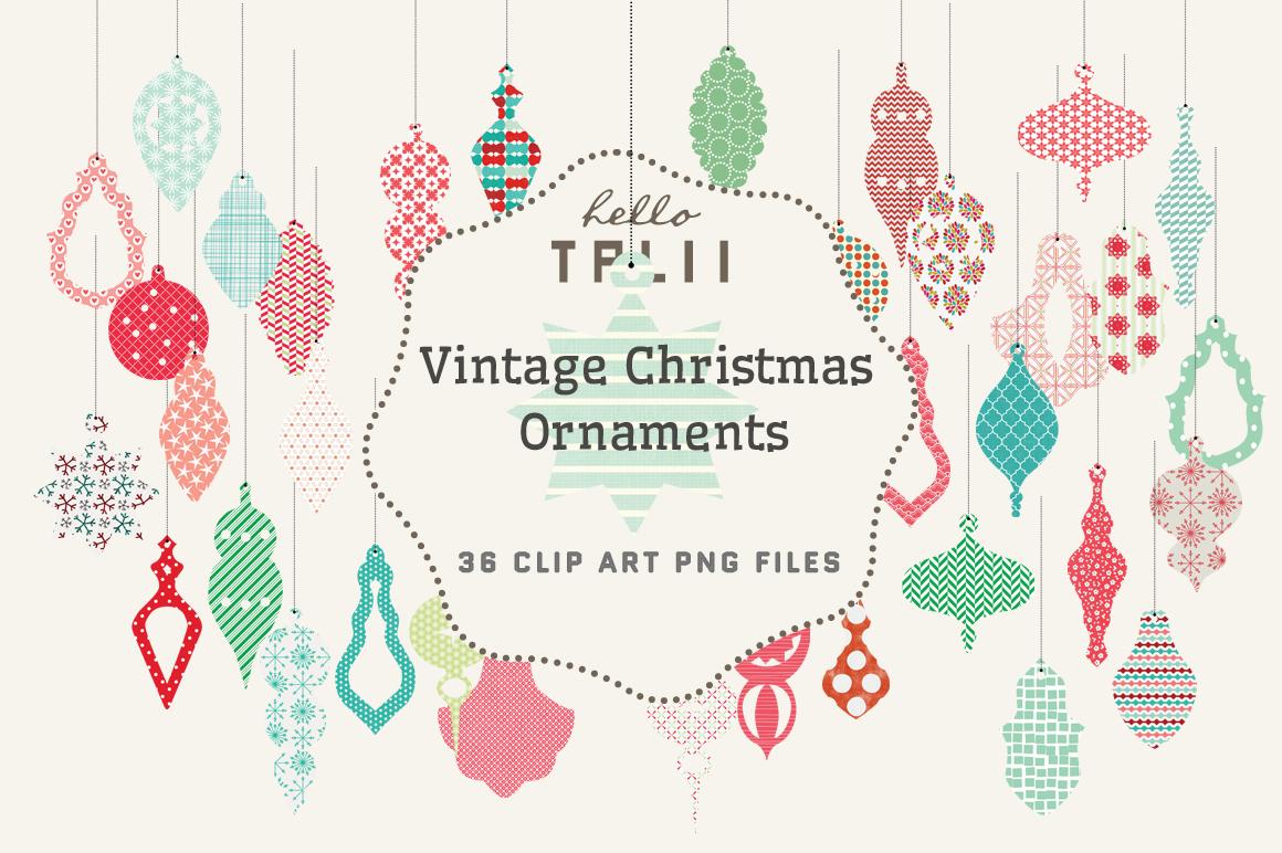 SALE! Vintage Christmas Ornaments ~ Illustrations on ...