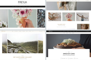 FREYJA-wordpress theme for bloggers